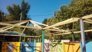 Lucrări de reparație a pavilioanelor în grădinița nr.227?.