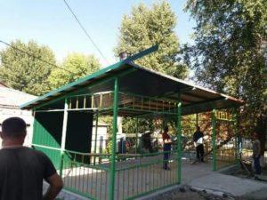 Spre finisare sunt lucrarile de constructie a două pavilioane de joacă în IET nr.55.