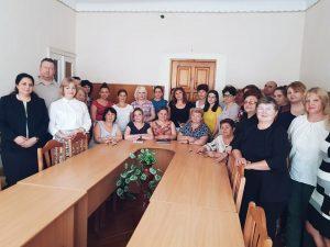 """Ședință de lucru privind politicile anticorupție, cu tema: """"Integritatea instituțională și profesională"""", la care au participat toți colaboratorii DETS sectorul Centru"""