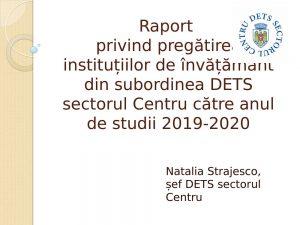 Pregătirea instituțiilor de învățământ către noul an de studii 2019-2020