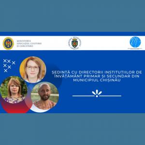 Ședință online cu directorii instituțiilor de învățământ primar și secundar din municipiul Chișinău privind asigurarea procesului educațional