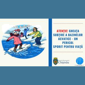 Atenție! Gheața subțire a bazinelor acvatice – un pericol sporit pentru viață