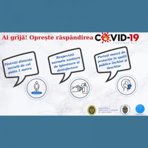 Ai grijă! Oprește răspândirea COVID-19