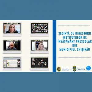 Ședință cu directorii instituțiilor de învățământ preșcolar din municipiul Chișinău