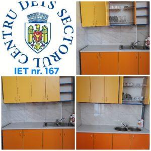 3 grupe din IET nr. 167 au fost dotate cu imobilier nou de bucătărie
