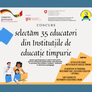 CONCURS pentru selecția a 35 educatori din IET