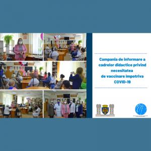 Campania de informare a cadrelor didactice privind necesitatea de vaccinare împotriva COVID-19