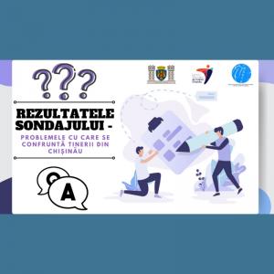 Rezultatele sondajului – problemele cu care se confruntă tinerii din Chișinău